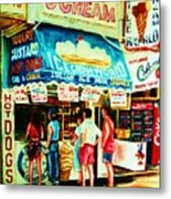 Stephanies Icecream Stand Metal Print