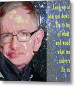 Stephen Hawking Poster Metal Print