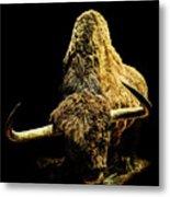Steppe Bison Metal Print