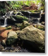 Stepping Cascade - Leura, Blue Mountains, Australia. Metal Print