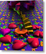 Stepping On Hearts Metal Print