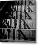 Stepping On Shadows Metal Print