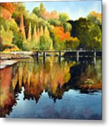 Stepping Stones Bolton Abbey Metal Print