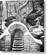 Steps Along The Wissahickon Metal Print