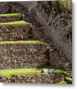 Steps And Terraces Metal Print