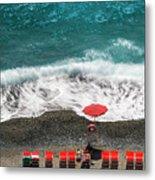 ...stessa Spiaggia... Stesso Mare...  ...the Same Beach... The Same Sea... Metal Print