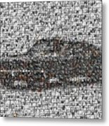 Steve Mcqueen Bullit Mosaic Metal Print