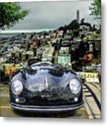Steve Mcqueen's 58' Porsche 356 1600 Speedster, Telegraph Hill, San Francisco, Ca Metal Print