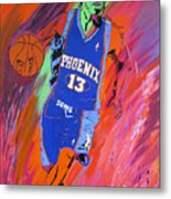 Steve Nash-vision Of Scoring Metal Print by Bill Manson
