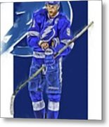 Steven Stamkos Tampa Bay Lightning Oil Art Series 2 Metal Print