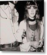 Stevie Nicks And Lindsey Buckingham Metal Print