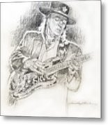 Stevie Ray Vaughan - Texas Twister Metal Print by David Lloyd Glover