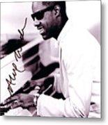 Stevie Wonder Autographed Metal Print