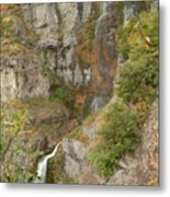 Stewart Falls In Autumn Metal Print