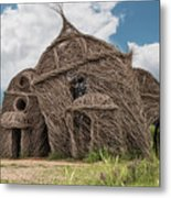 Lean On Me - Stick House Series #3 Metal Print