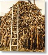 Sticks And Ladders Metal Print