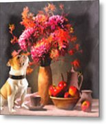Still - Floral And Fruit Metal Print