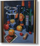 still life 2, Wine your style Metal Print