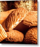 Still Life Bakery Art. Shortbread Cookies Metal Print