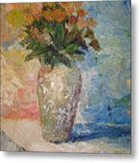 Still Life Flowers Metal Print
