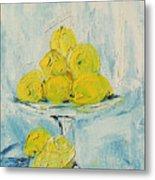 Still Life - Lemons Metal Print