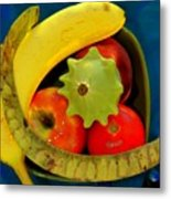 Still Life On Blue Metal Print