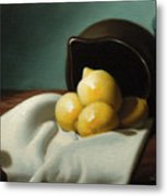 Still Life Painting Three Beauties Metal Print