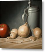Still Life Painting with Onions Metal Print