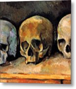 Still Life, Three Skulls Metal Print
