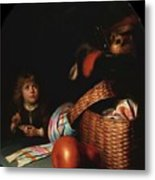 Still Life With A Boy Blowing Soap Bubbles 1636 Metal Print