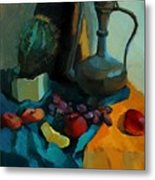 Still Life With A Cactus Metal Print