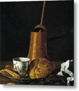 Still Life With A Chocolate Service Metal Print