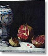 Still Life With A Pomegranate Metal Print