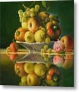 Still Life with a Rose Metal Print
