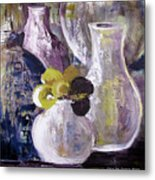 Still Life With A Yellow Flower Metal Print