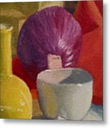 Still Life With An Onion Metal Print