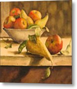 Still-life With Apples And Pears Metal Print