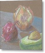 Still Life With Avacado Metal Print