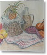 Still Life With Baby Pineapple Metal Print