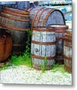 Still Life With Barrels Metal Print