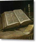 Still Life With Bible Nuenen, October 1885 Vincent Van Gogh 1853  1890 Metal Print