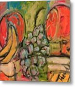 Still Life With Big Orange Metal Print