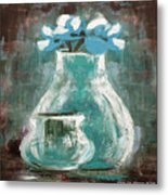 Still Life With Blue Flowers Metal Print