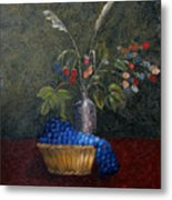 Still Life With Blue Fruit Metal Print