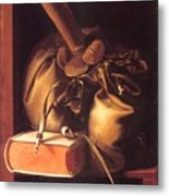 Still Life With Book And Purse Metal Print