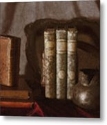 Still Life With Books Metal Print
