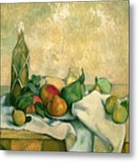 Still Life With Bottle Of Liqueur Metal Print