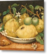 Still Life With Bowl Of Citrons Metal Print