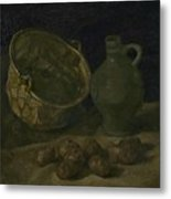 Still Life With Brass Cauldron And Jug Nuenen, September 1885 Vincent Van Gogh 1853  1890 Metal Print