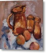Still Life With Brown Pitcher Metal Print